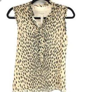 JCrew silk sleeveless high neck blouse Sz 12